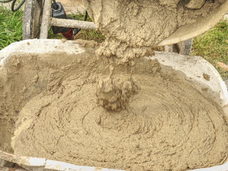 házilag készített beton