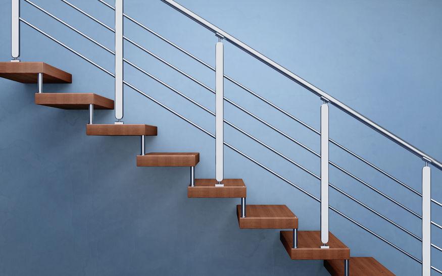 rozsdamentes lépcső korlát